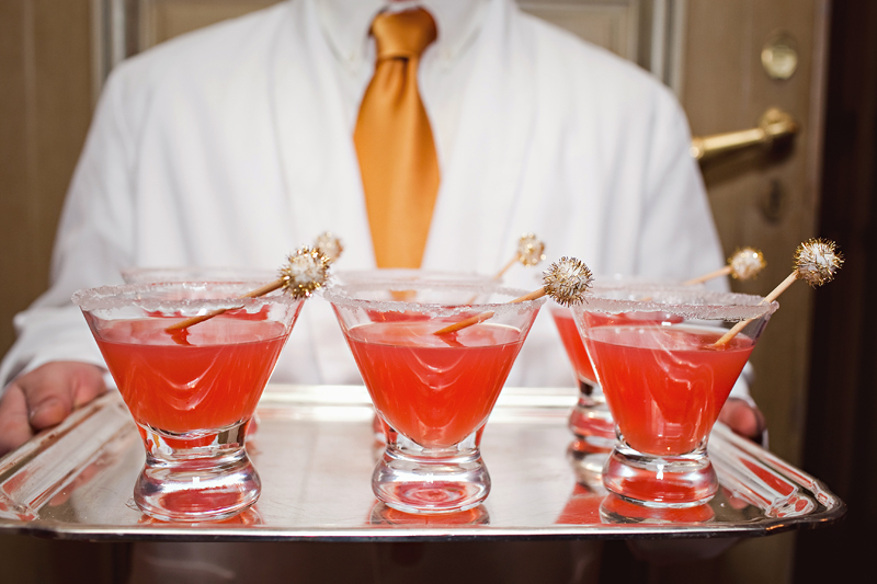 This cocktail, the Independence Sparkler, was used to promote both the brand of vodka (a sponsor company), the 4th of July holiday of the event and the charity it promoted. Genius!