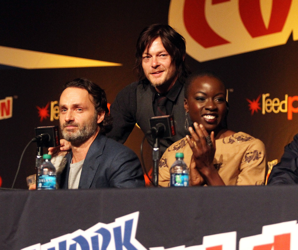 Stars of The Walking Dead at a 2014 Panel / image via techtimes.com