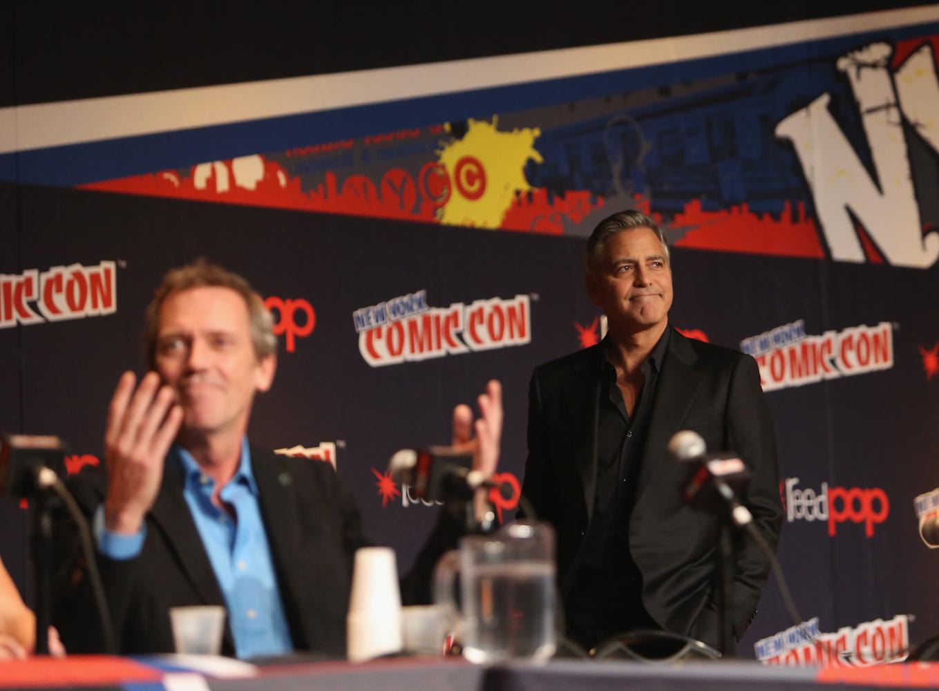 Clooney surprises Comic Con / image via timeoutny.com