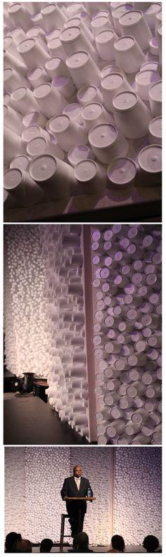 Styrofoam cups stage design
