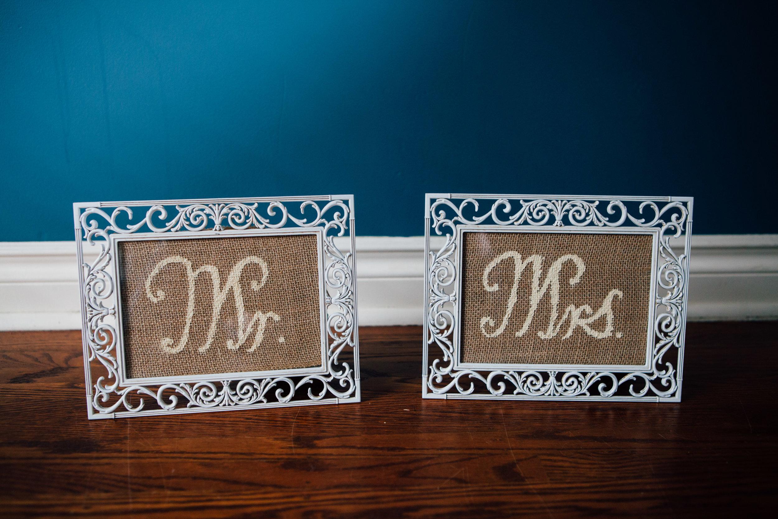 """Mr. & Mrs. 7.5x9.5"""""""
