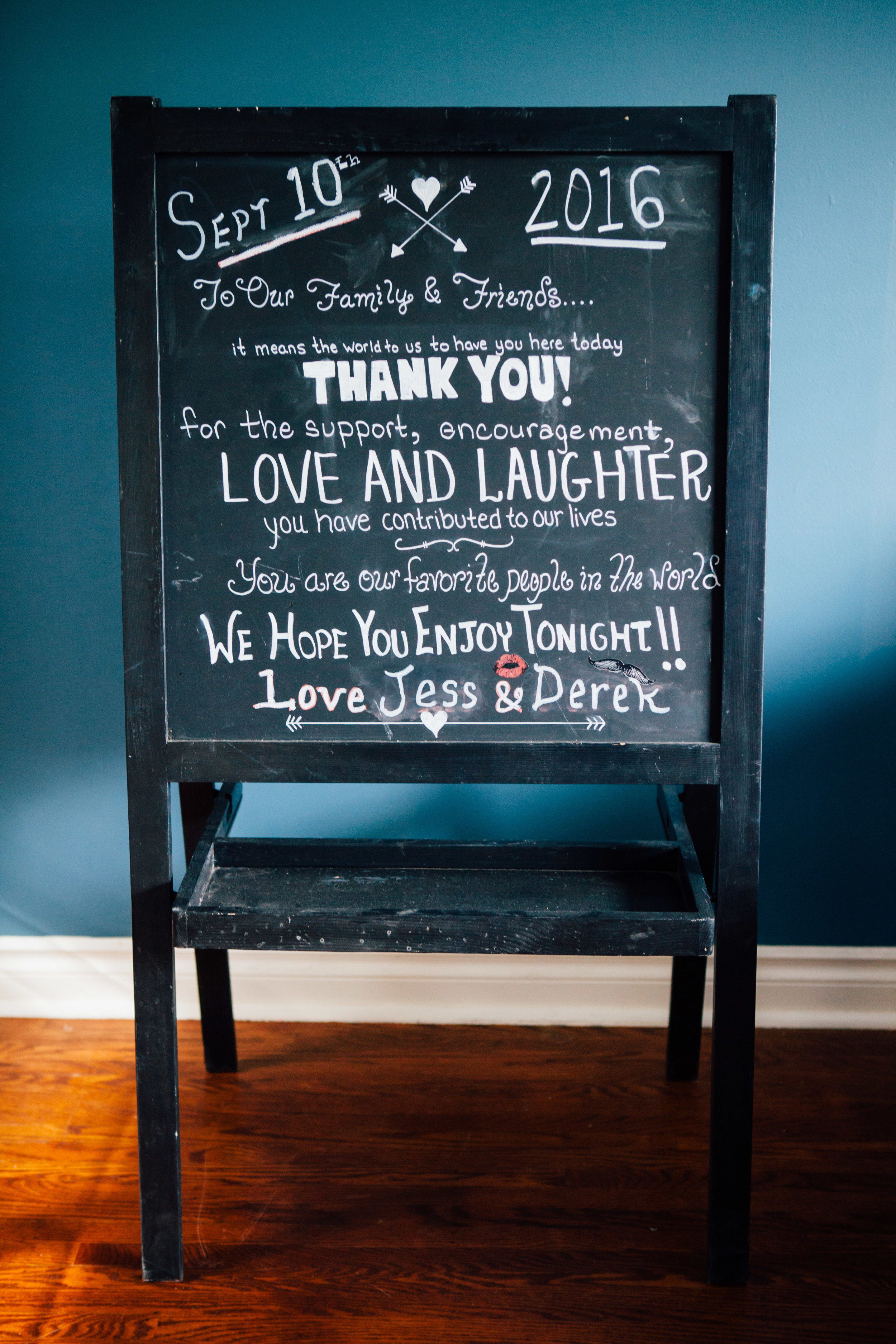 """Chalkboard Stand with Tray - 24.5x46"""""""