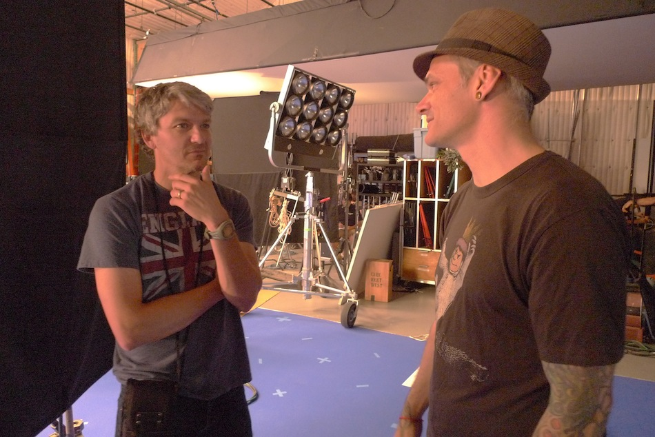Cooper and DP Kevin Fletcher in full-on cinematic contemplation mode.