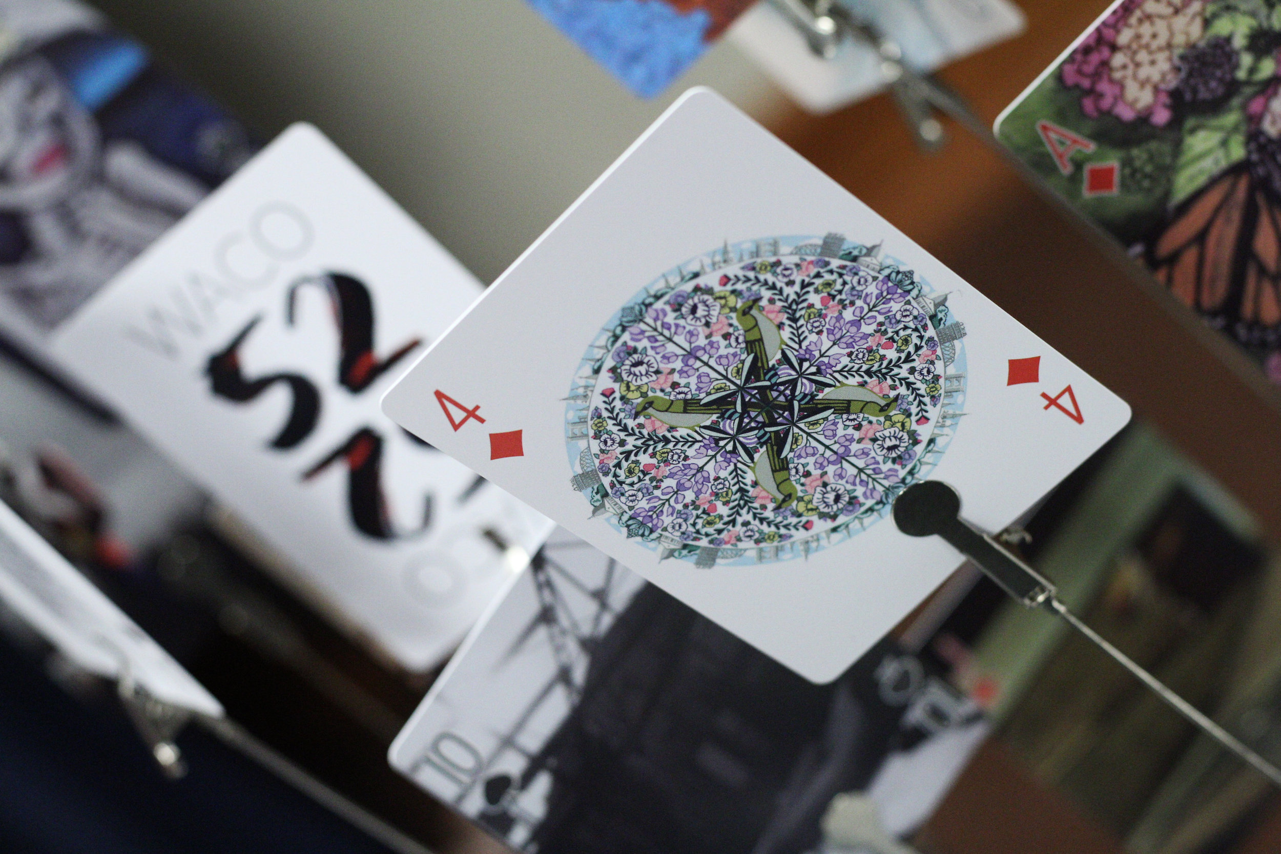 Waco Mandala  by Rhiannon Rosenbaum as a Waco 52 playing card.