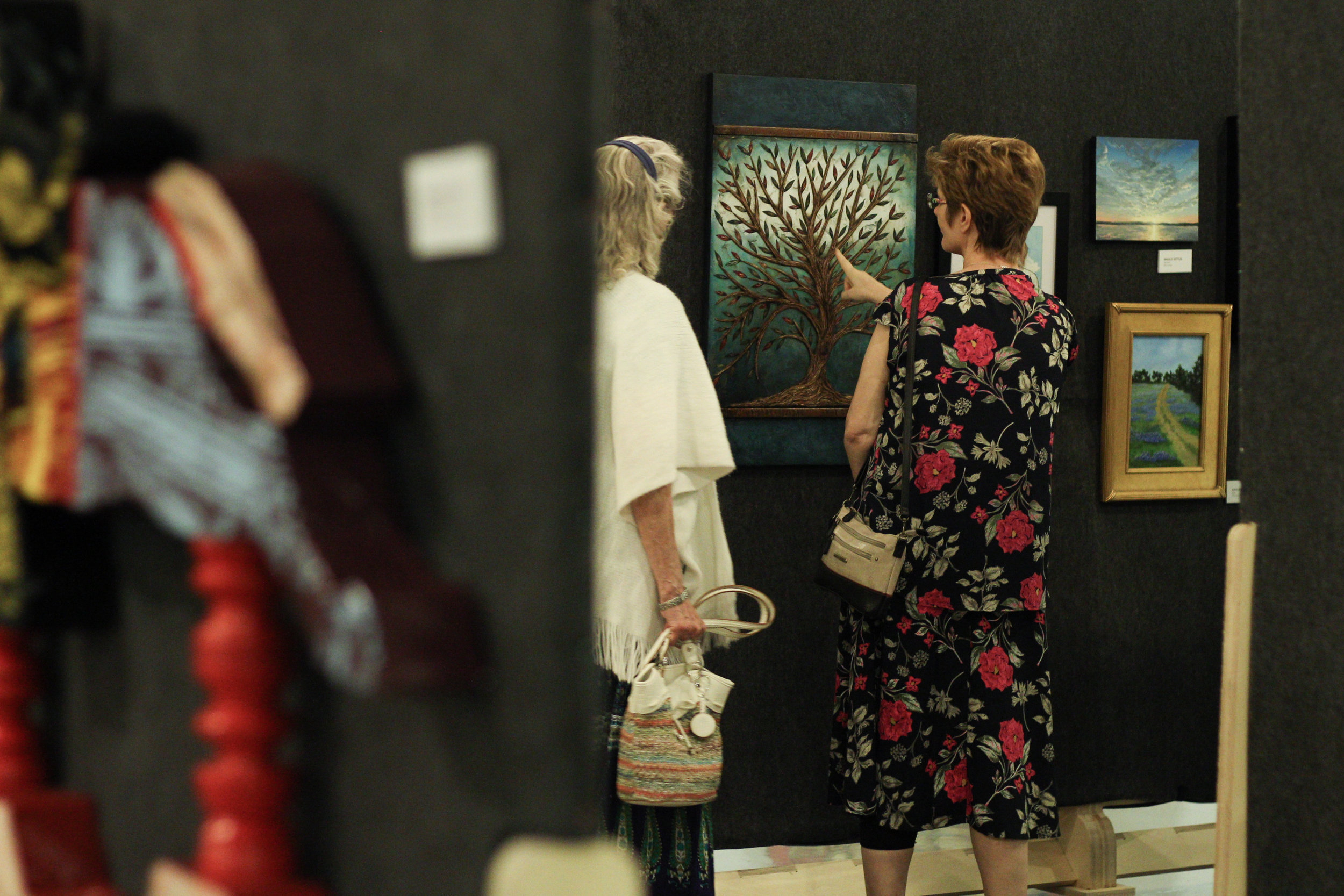 Guests view  Copperwood Hedges  by Kimberly Merk Moore.