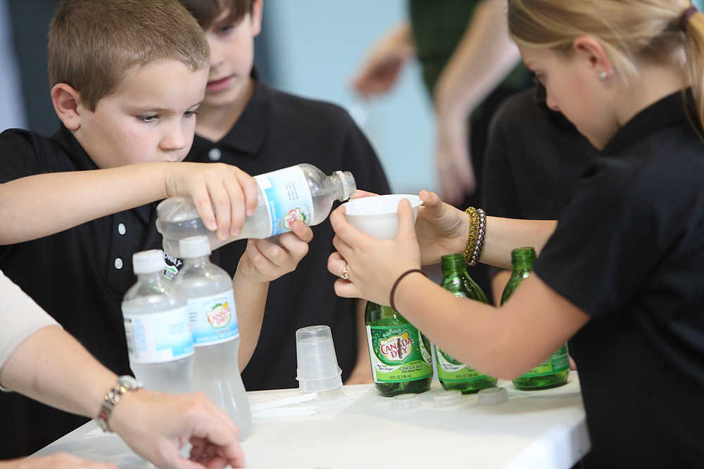 Participants a the Dr Pepper Museum's  Create a Soft Drink  program.