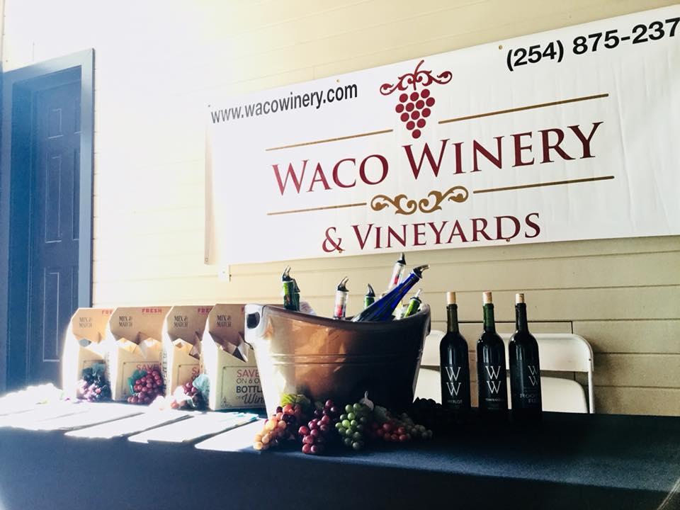 Photo courtesy of Waco Winery & Vinyards.