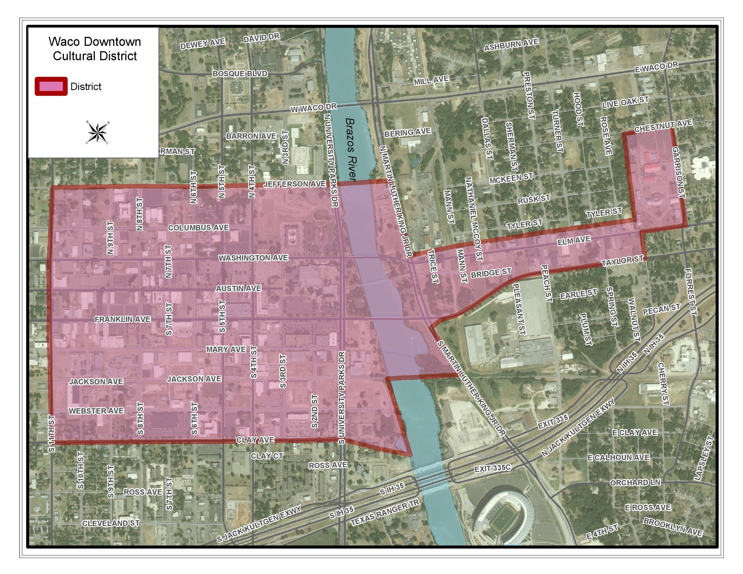 Waco Downtown Cultural District Map