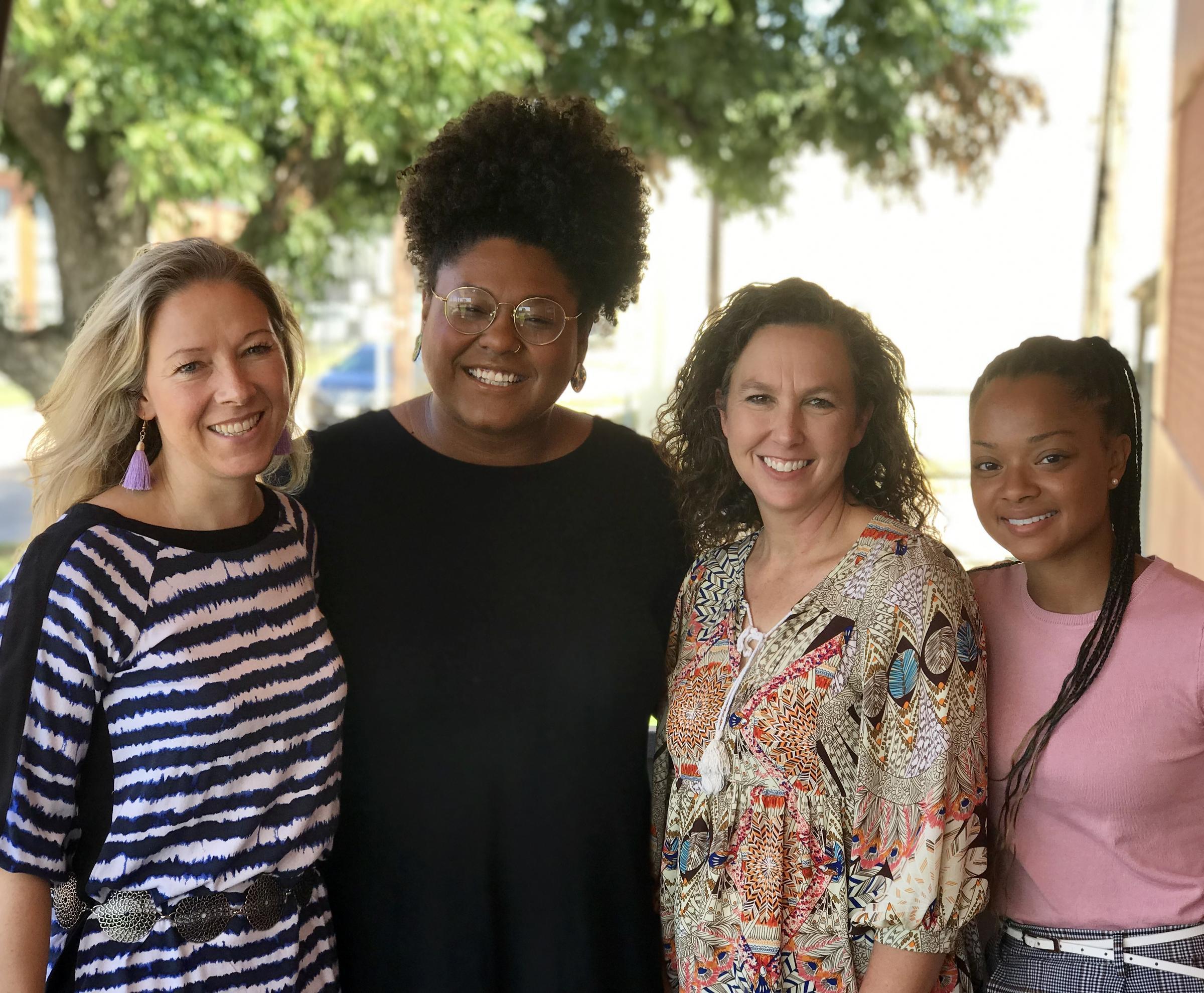 Fiona Bond, Rae Jefferson, Angela Everett and Kennedy Sam at the KWBU Studios.  (BRODIE BASHAW/ KWBU RADIO)