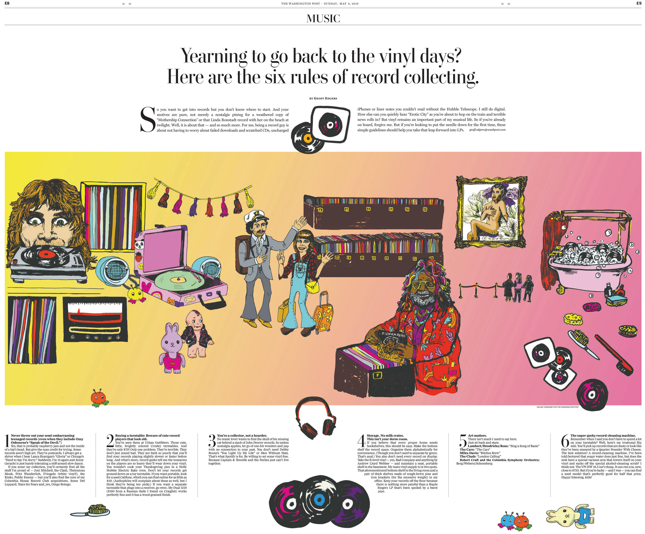 Six Rules of Record Collecting// The Washington Post