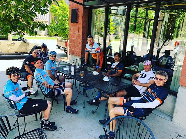 Post ride refreshments. #clubmodcycling #coffeeshop  #amantecoffee