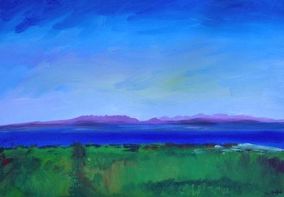 The Purple Hills Of Connemara: View From Pettys Hill, Doolin