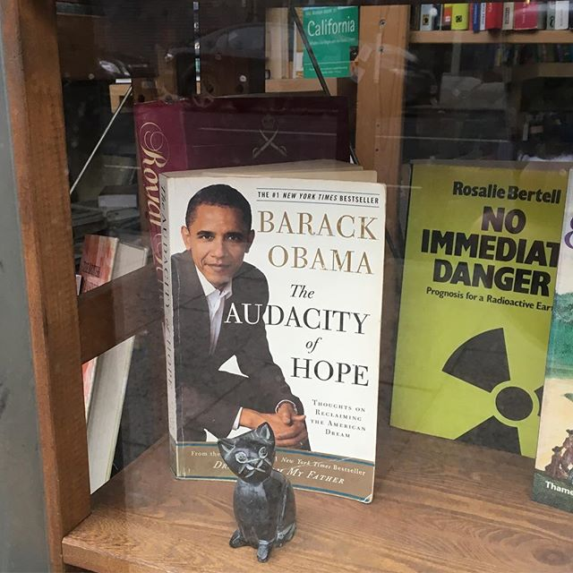 A new entry to our local charity book shop. The one behind it looks ominous...