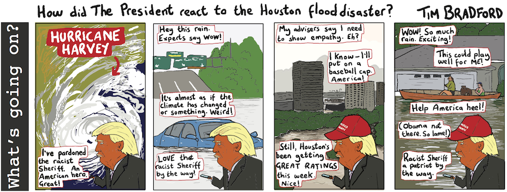 How did the President react to the Houston flood disaster? - 29/08/17