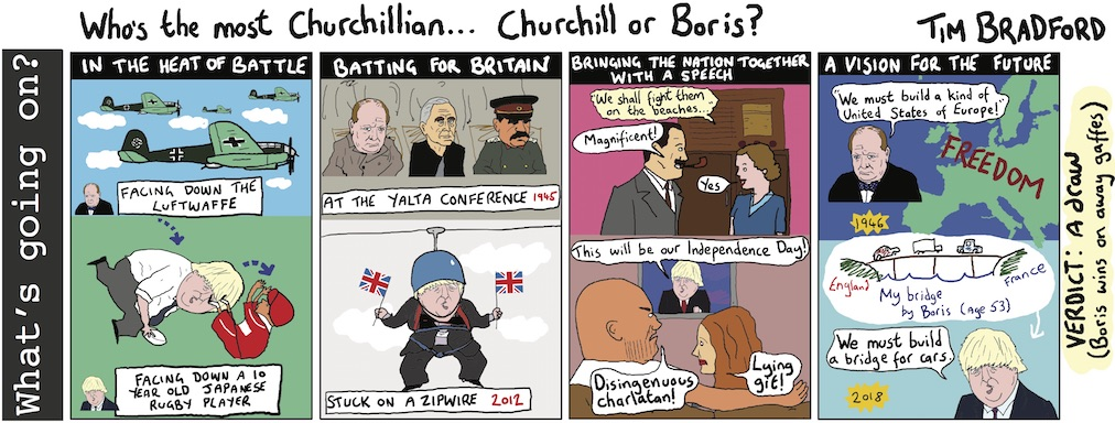 Who's the most Churchillian... Churchill or Boris? 23/01/18