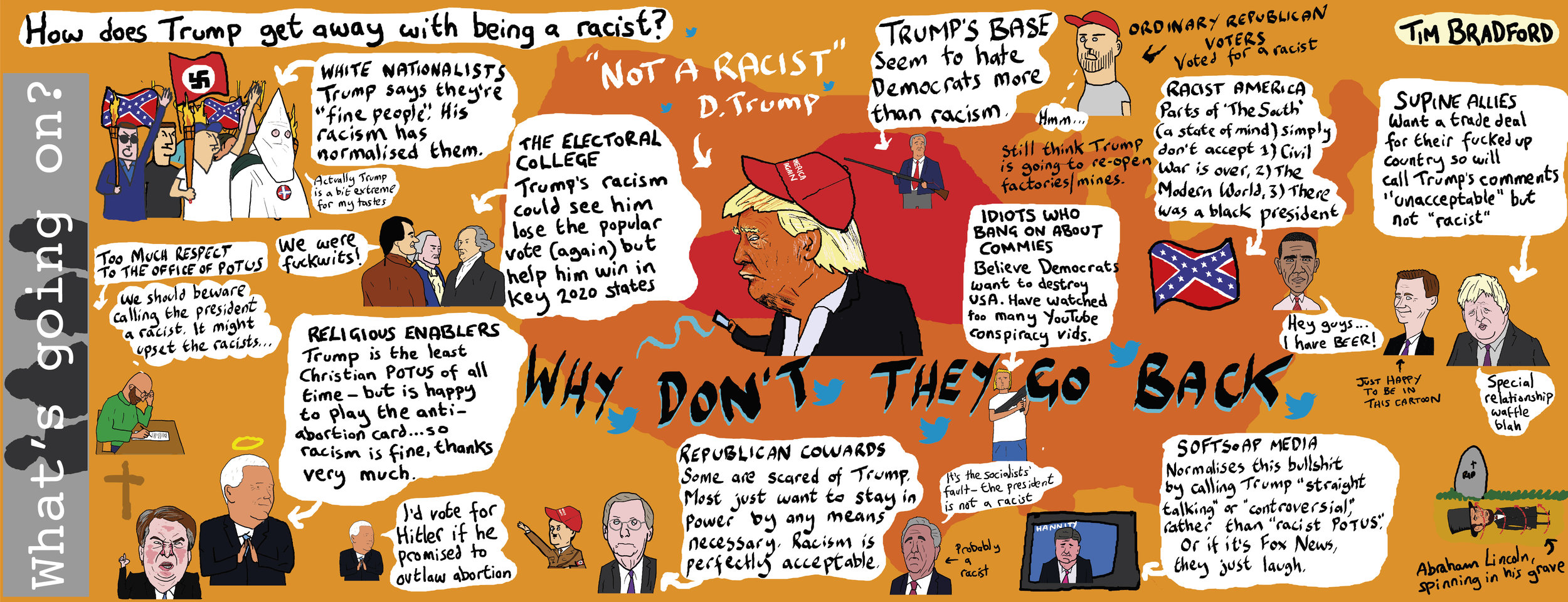 How does Trump get away with being a racist? - 16/07/19