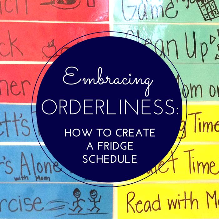 how to create a fridge schedule