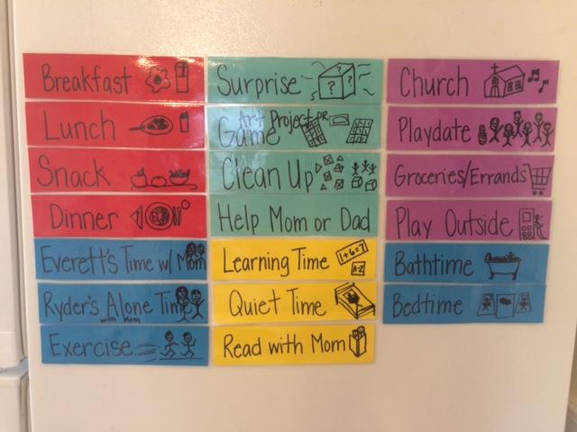 help kids organize time