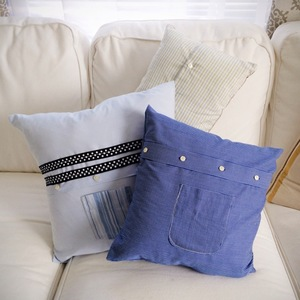 how to sew pillows from mens shirts