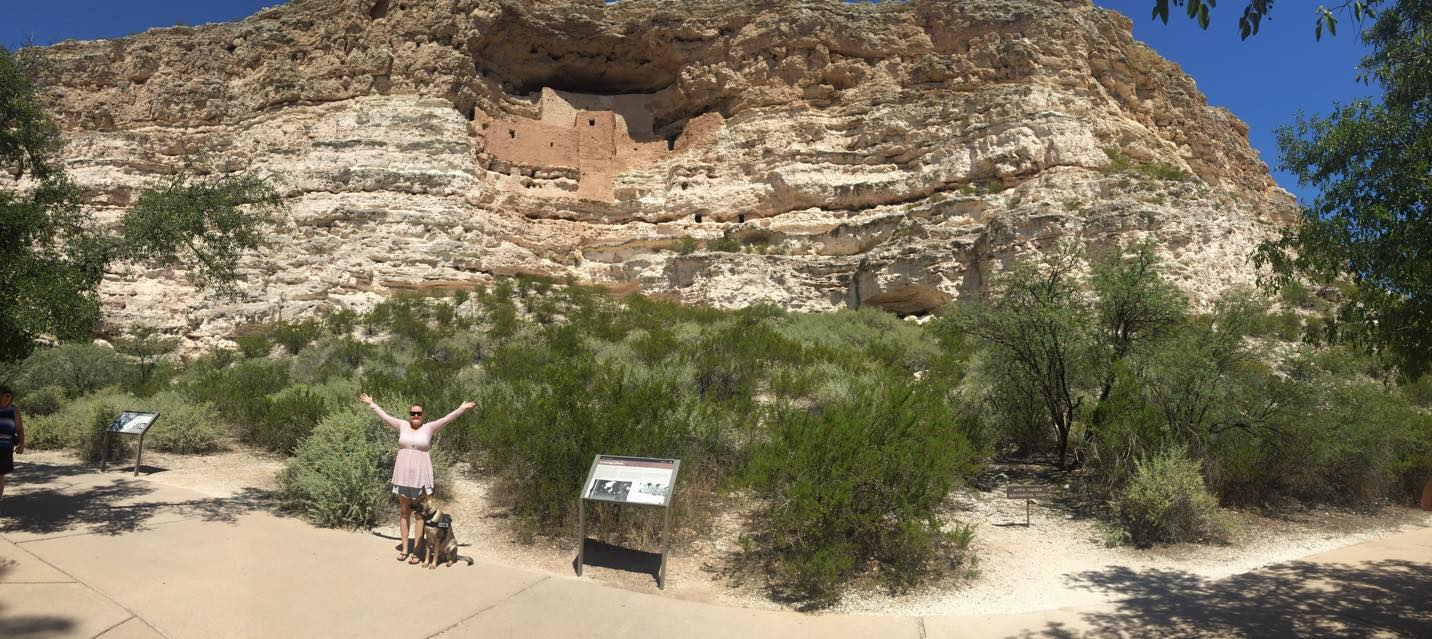 Me and Karma at Montezuma's Castle in AZ