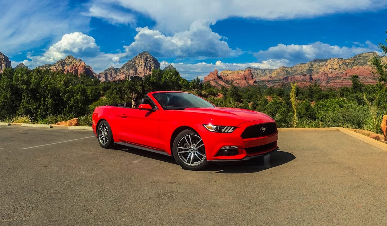 Karma in our sweet ride in Sedona AZ