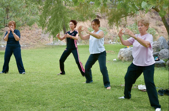 Tai Chi is an ancient Chinese tradition that has now been shown to be a great, noncompetitive, self-paced form of purposeful movements that is a great type of exercise and stress relief.