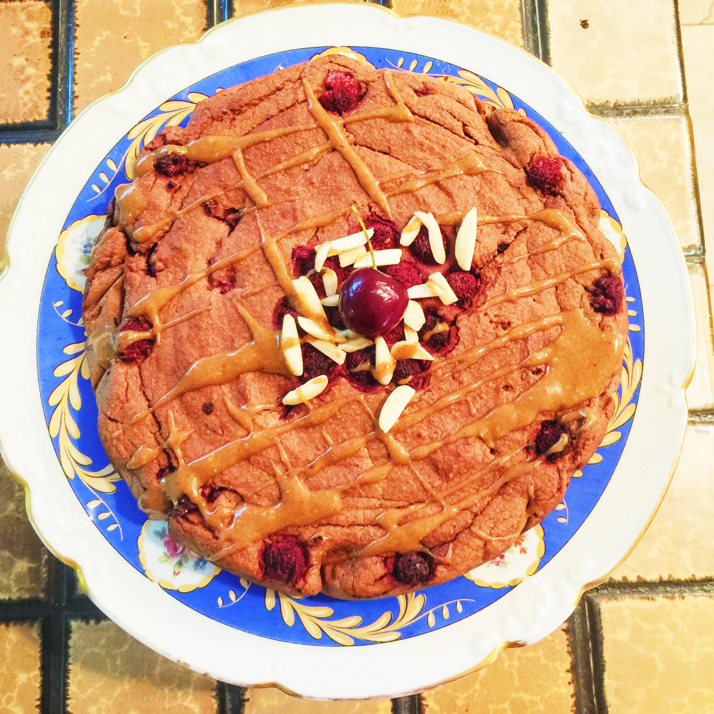 Tart Raspberry Cake