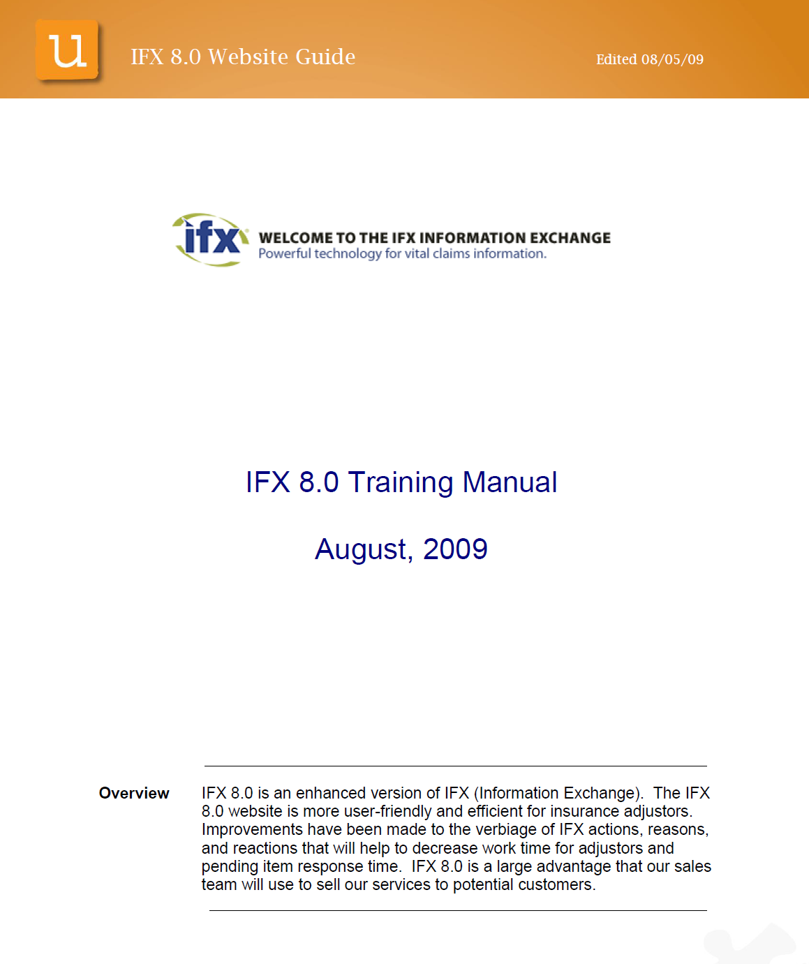 Task + Solution - Create a training manual for company-wide use on an updated version of software. The software provides insurance adjusters increased efficiency in communication.I partnered with subject matter experts and used the Beta site to create the manual on time. I taught in-person courses on the subject matter to roll out the changes seemlessly.Click image to view.