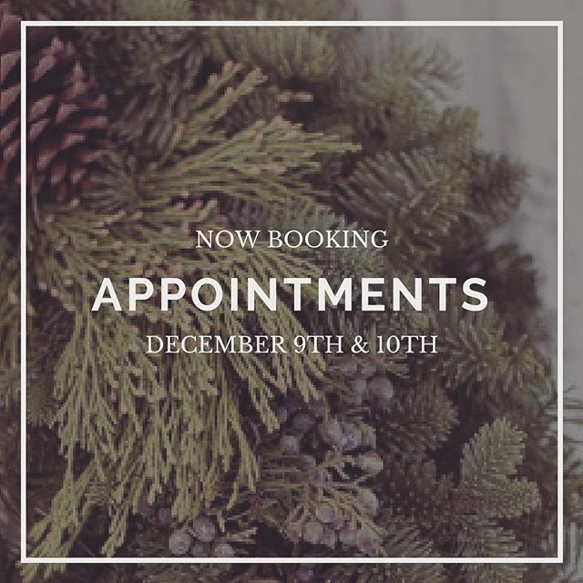 The ONE and only weekend we are open prior to Christmas! Book your appointment now! 614-563-7321