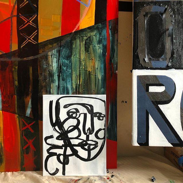 WIP 🚩💬 #painting #abstractart #studio #contour #workinprogress