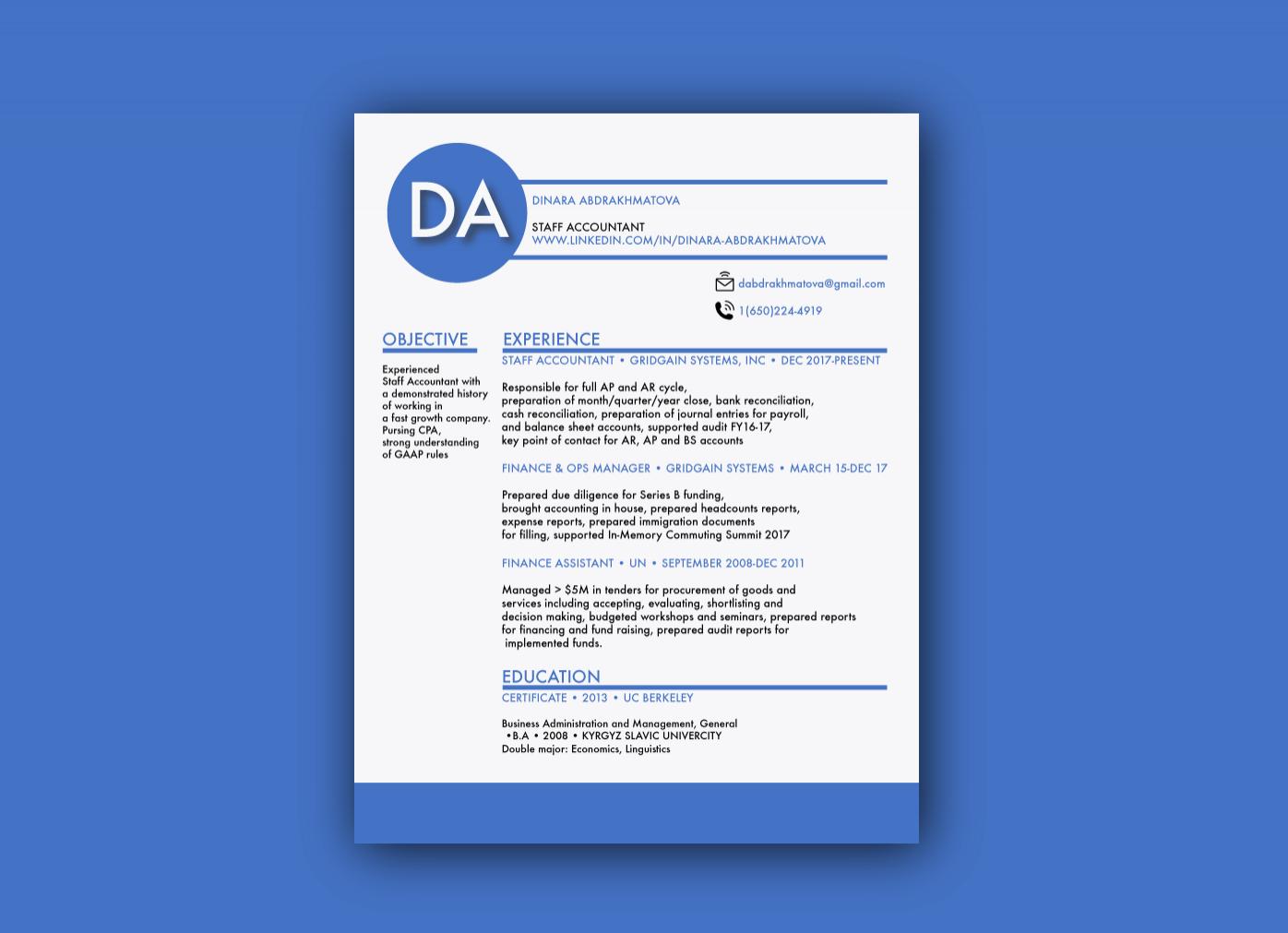 Resume Design 2018