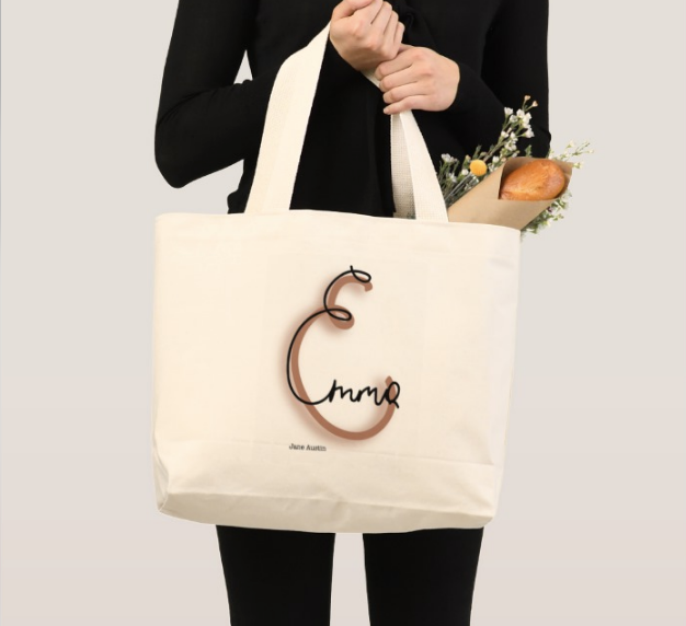"""Emma"" Jane Austin tote bag print design"