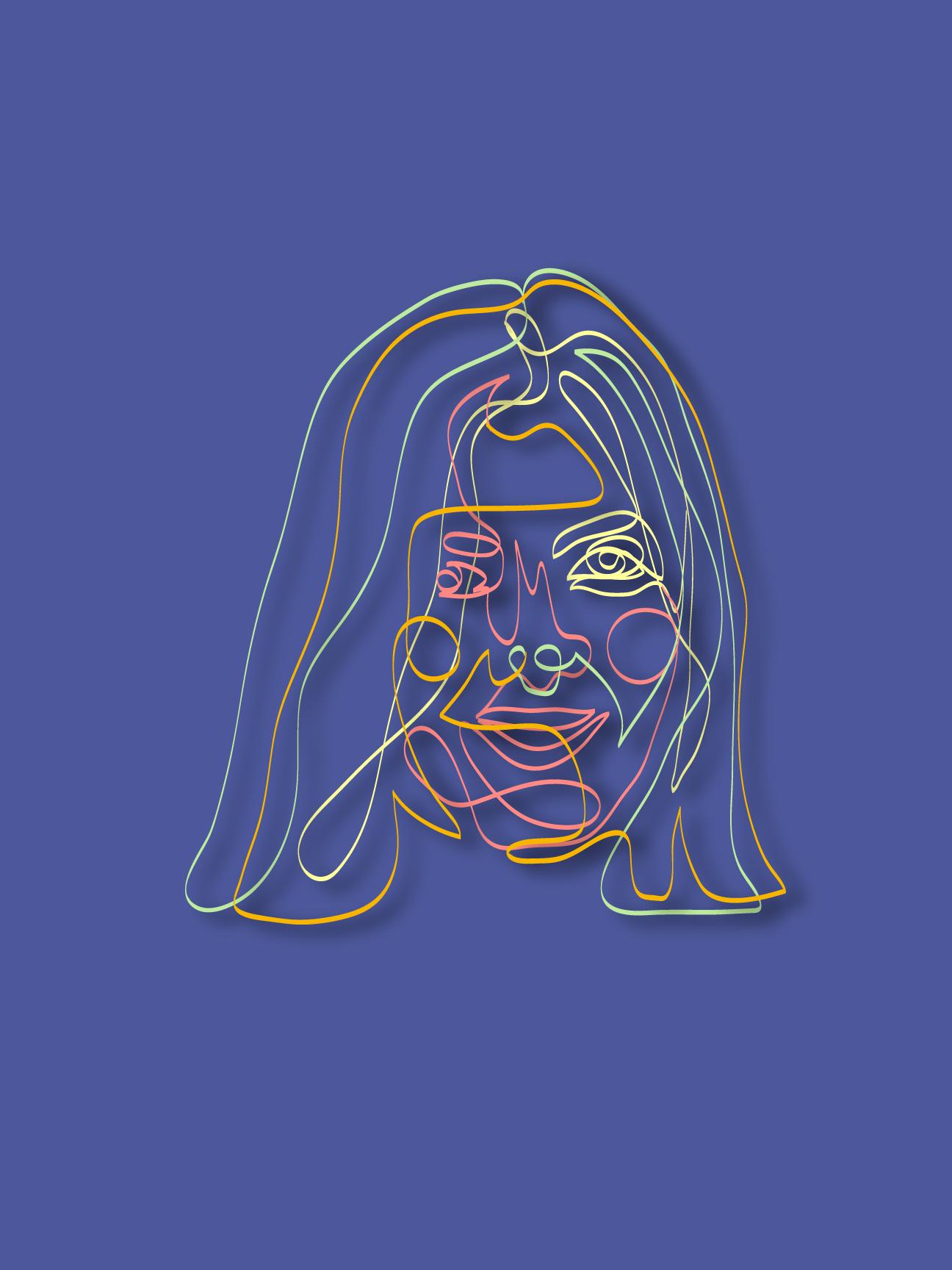 Nastya's Portrait 2019, Linear Art