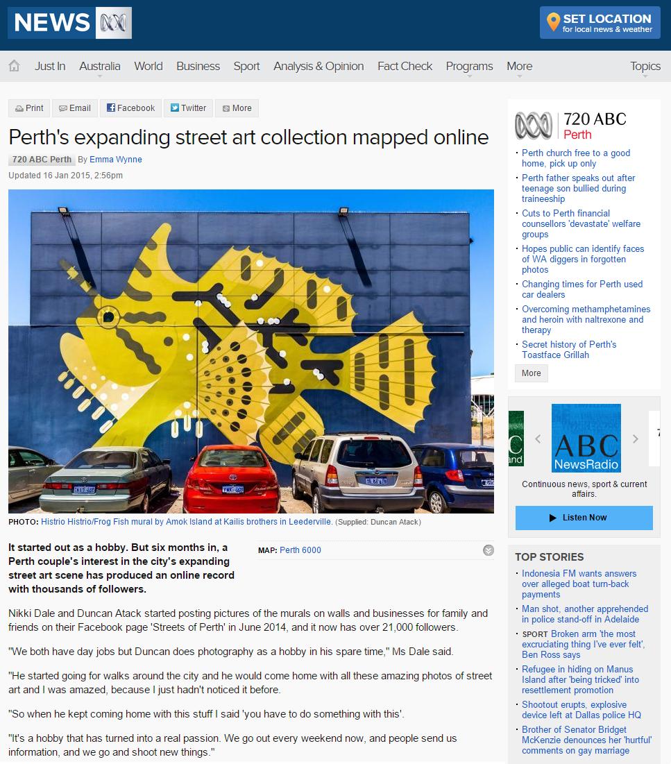 ABC News - 16 January 2015