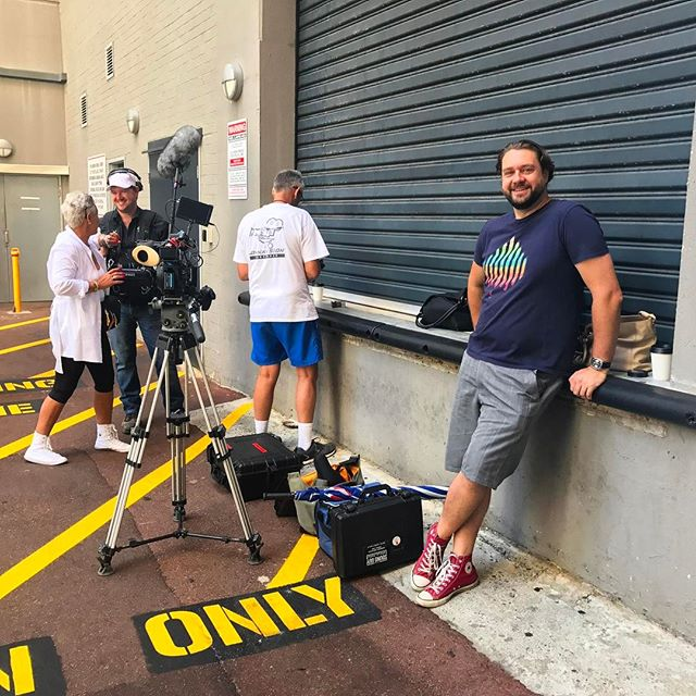 We're on location with Channel 9 today, filming a segment on Perth's street art scene. 🙈 Tell us... which WA mural is YOUR favourite? #streetsofperth #perth #streetart #15secondsoffame