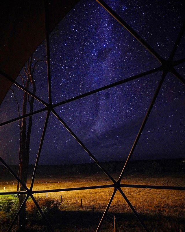 Breathtakingly beautiful stars from our dome at @mileendglamping last night! ✨ #mileend #mileendglamping #glamping #honeymoon #minimoon #yelverton #thisiswa #westernaustralia #icwest #stars #stargazing #milkyway #perthlife #perthisok #myperth #perthsbest #perthsummer