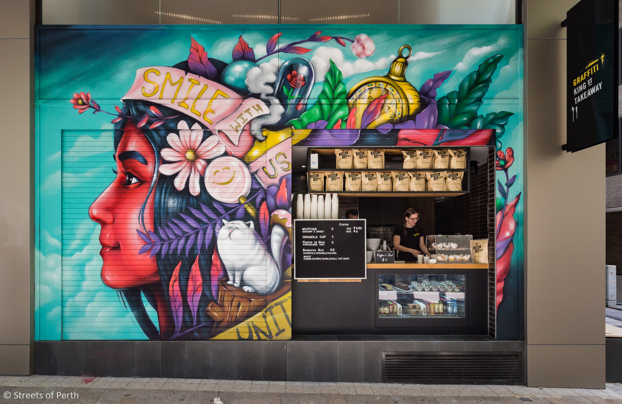 Graffiti's new mural by Daek William features  Laurinda Ho , the daughter of Macau's richest billionaire Stanley Ho.