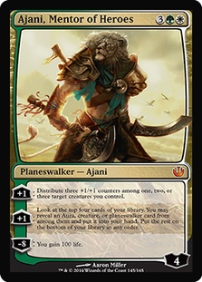 Ajani's second +1 ability was used.