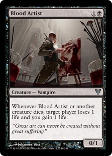 Is that depicting someone painting with REAL blood?! GROSS!