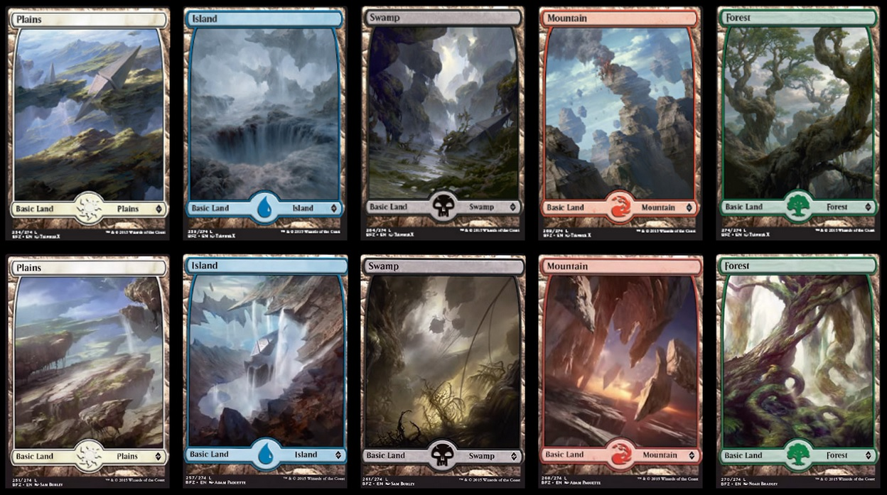 These are but a few of the Full Art Basic Lands coming this Fall!