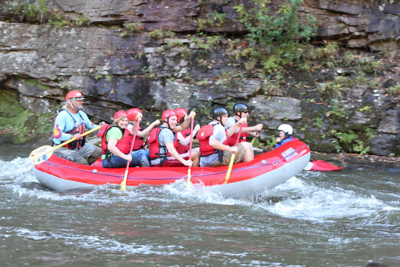 Whitewater rafting on the Russell Fork River