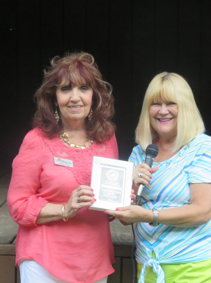First Community Bank- Marzie Fleming and Rita Surratt- 2017 Dickenson County Chamber's Large Business of the Year