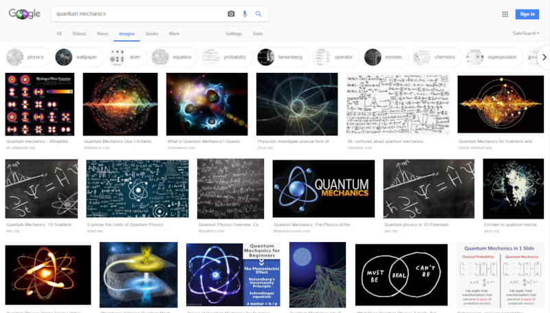 What Quantum Mechanics looks like, apparently.