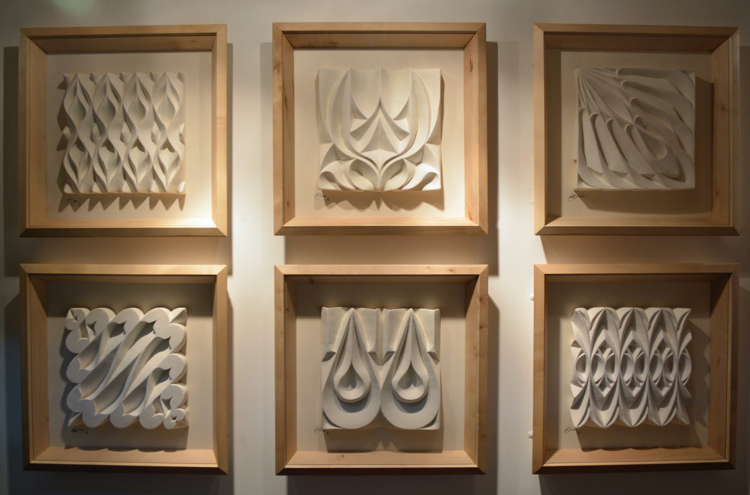 Framed Sculpted Tiles