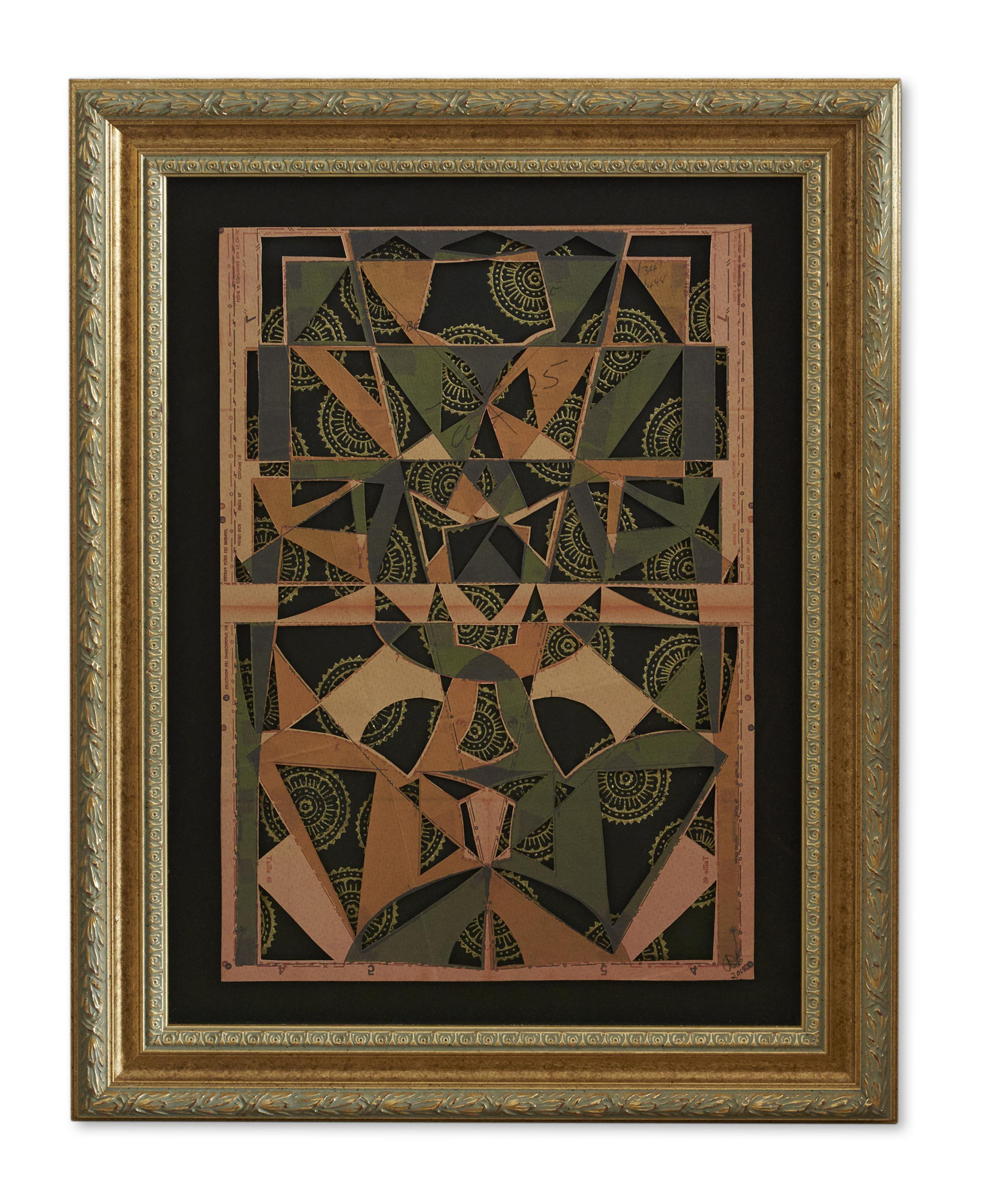 Ornamental Architectural Body  , 2015  58.2 x 46.2 cm (framed) £1750