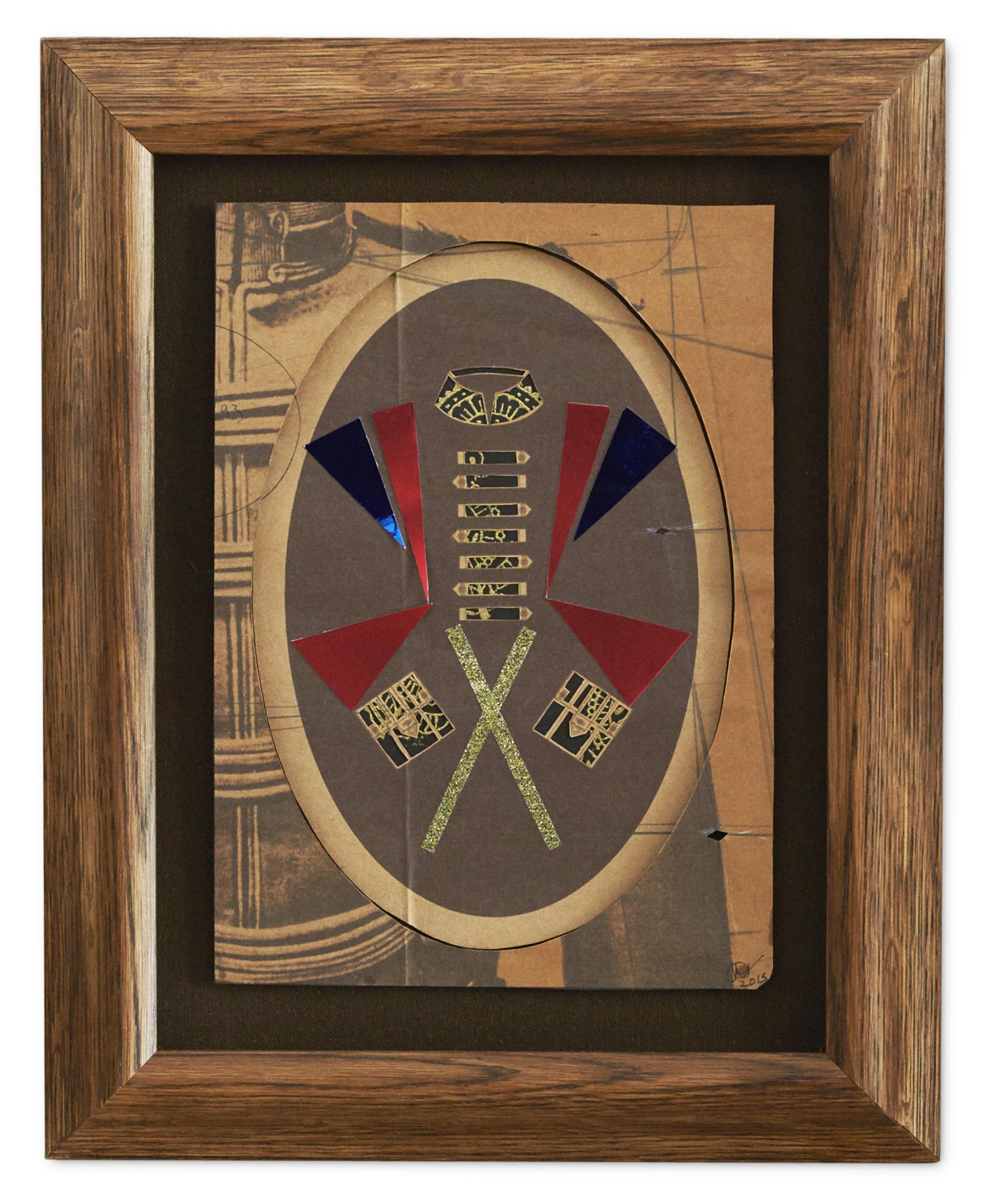 The Officer She had a Love Affair with ,  2015  53.2 x 41.5 cm (framed) £650