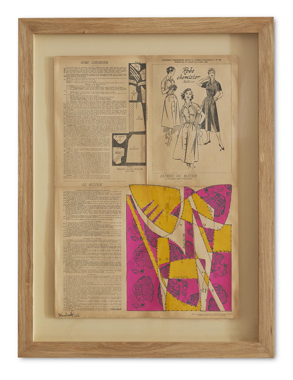 Colourful Bustier ,  2015  71 x 53.5 cm (framed) £1100