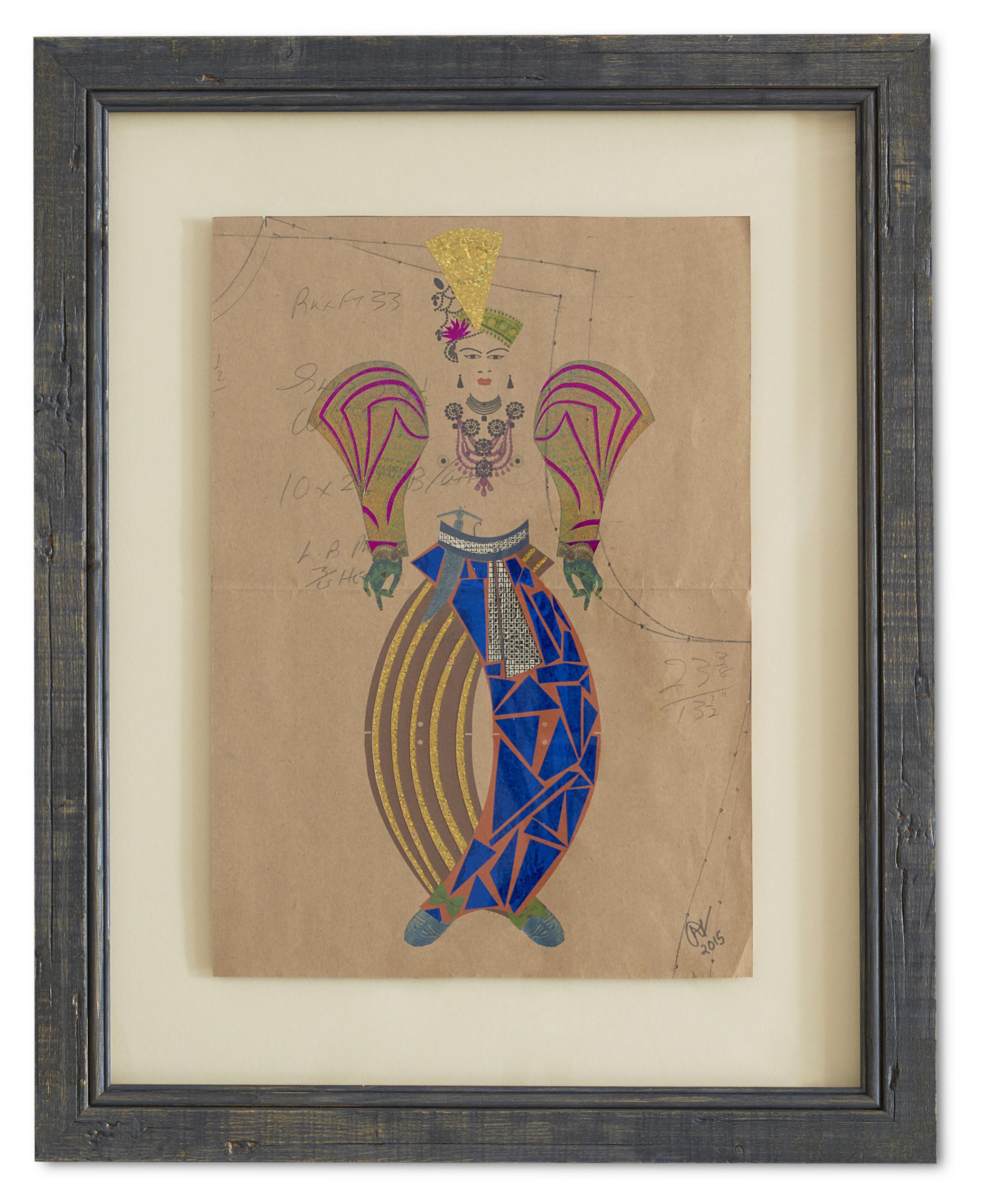 Maharani Resplendence ,  2015  62 x 49.5 cm (framed)  £1050