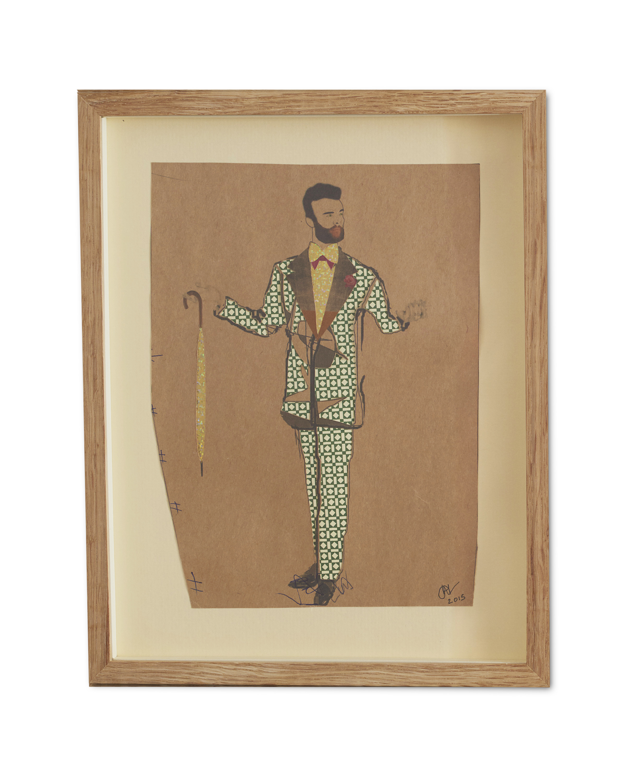 Dandy Gent ,  2015  38.2 x 29.6 cm (framed) £440