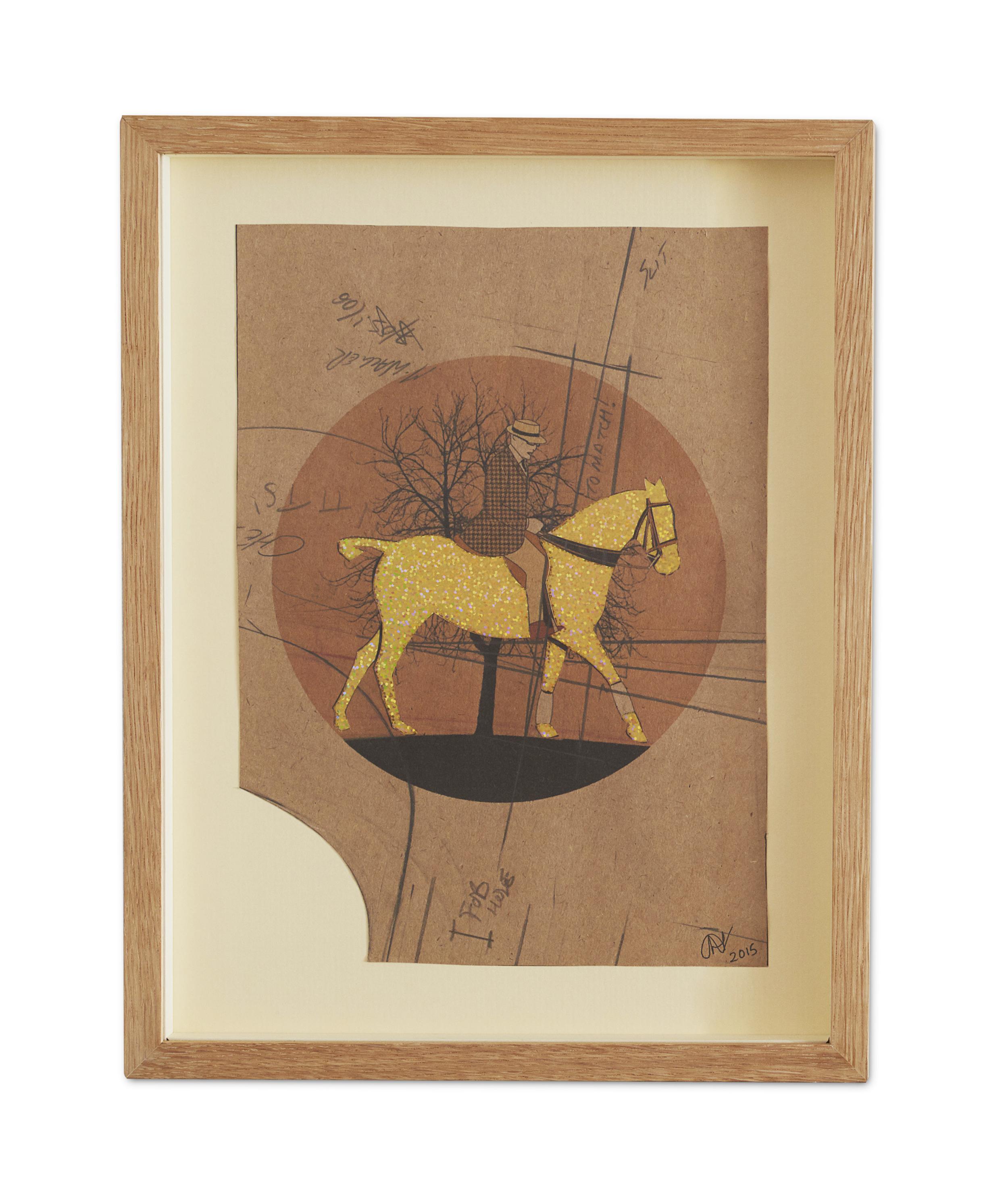 Golden Racer ,  2015  38.2 x 29.6 cm (framed) £440